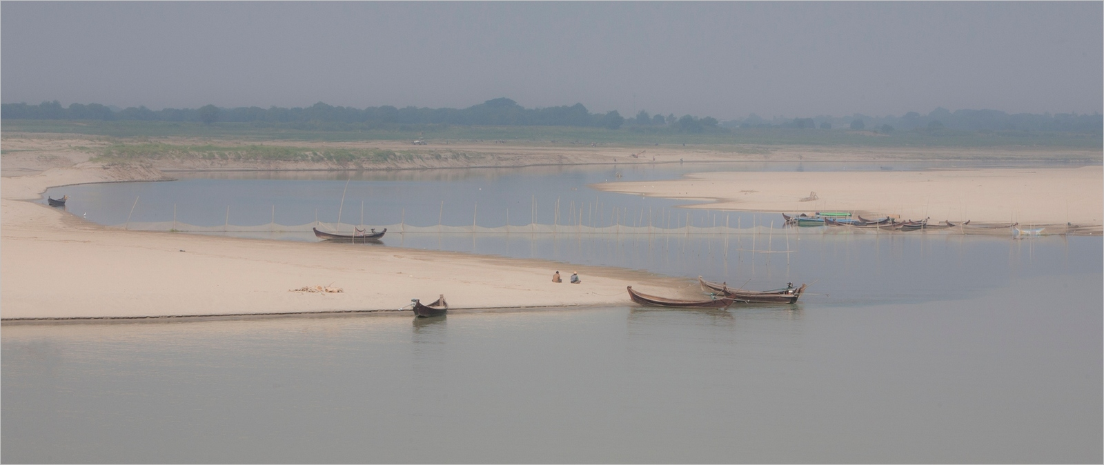 Tranquil Scene on the Irawaddy River, Myanmar